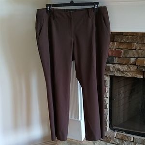 Talbots Brown stretch career dress pants 16PW